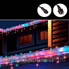 Гирлянда Бахрома на улицу 3м мульти цвет (Белый и чёрный провод), фото 2