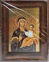 С Икона в деревянной рамке 15х20см. (0,95)