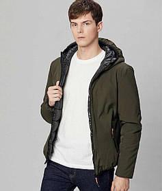 Мужская плотная демисезонная куртка с капюшоном
