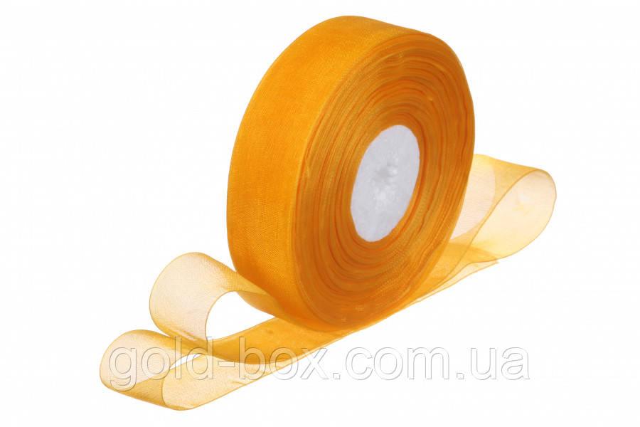 Лента органза оранжевая 2,5см