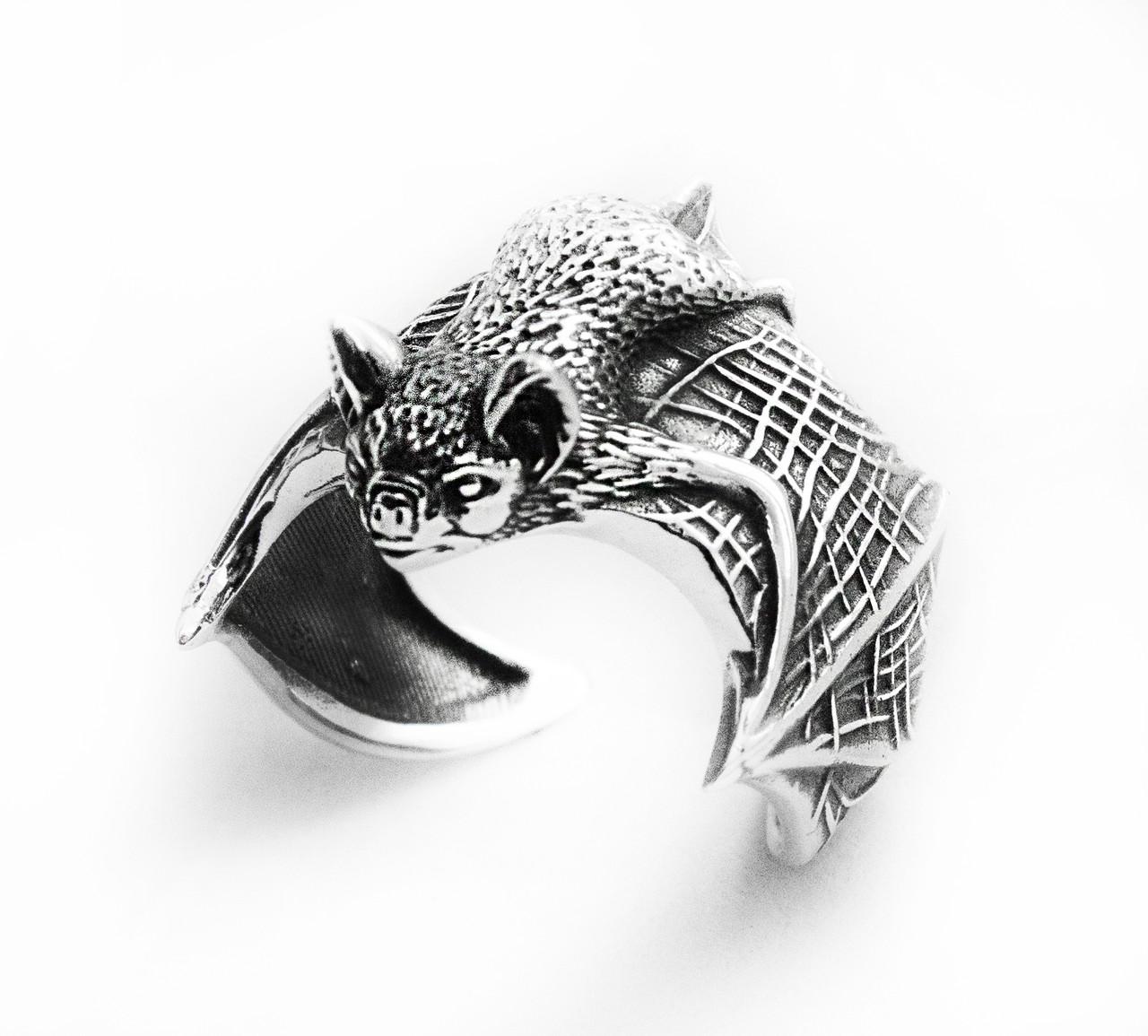 Кольцо мужское серебряное Летучая мышь 212 800