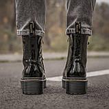 🔥 Ботинки женские высокие зимние Dr. Martens Jadon черные лаковые лак кожаные кожа теплые демисезонные, фото 8
