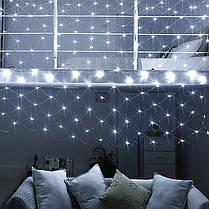 """Новогодняя гирлянда """"Сетка"""" белого свечения  Xmas  200 LED диода (2*2 метра), фото 2"""