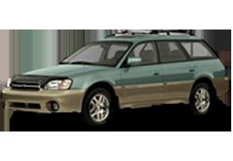 Накладки на задний бампер для Subaru (Субару) Outback 2 (BH) 1999-2003