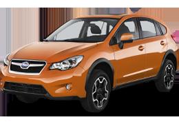 Накладки на задний бампер для Subaru (Субару) XV 1 2011-2017