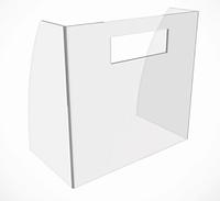 Защитные экраны для кассы, перегородки для кассы 800*600 мм, толщина акрила 4 мм