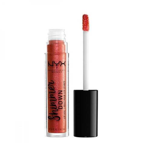 NYX Блеск-вуаль Shimmer Down Lip Veil №01 (peach of my heart) 4.2 мл, фото 2