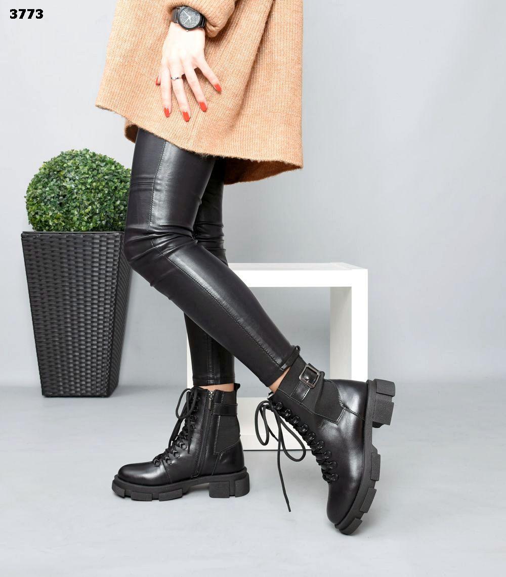 Женские демисезонные Ботинки Натуральная кожа +стрейч