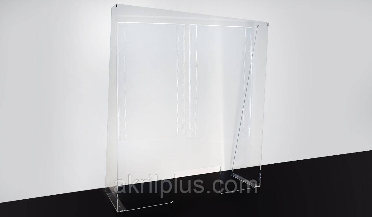 Прозрачный защитный экран для кассы 800*600 мм, толщина акрила 4 мм