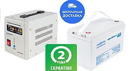 Комплект резервного питания для котла 9 часов ИБП LPY-PSW-500VA(350W) и АКБ AGM LP-MG 12 - 100AH