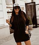 Женская туника, турецкая трехнить, универсальный 42-46 (чёрный), фото 2