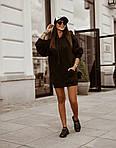 Женская туника, турецкая трехнить, универсальный 42-46 (чёрный), фото 3