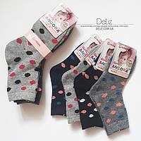 Дитячі СІРІ шкарпетки Pesail 6027 з ангори. Розмір 28-32