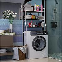 Стеллаж для хранения над стиральной машиной в ванную комнату, полка органайзер напольный, этажерка в ванную