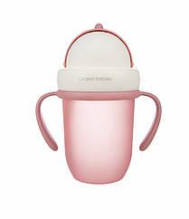 Поїльник з трубочкою рожевий MATTE PASTELS 210 мл Canpol babies_pin 56/522