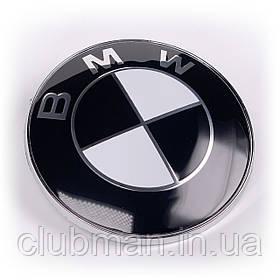 Эмблема БМВ BMW 82 мм (черно-белая) значок бмв E39 E53 E60 E46 E36 E34 E90 E65 E66 E70 Значек капот багажник