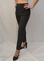 Лосины женские на меху в мелкую клетку 2XL - 7XL Брюки с накладными карманами в больших размерах, фото 2