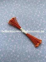Тычинки тайские,оранжевые на оранжевой нитке, круглые, супермелкие