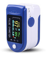 Пульсометр оксиметром на палець (пульсоксиметр) JN P01 TFT Blue, для вимірювання пульсу і сатурації.