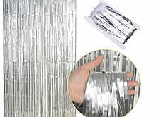 Фольгована шторка срібний 1,2*2 метри