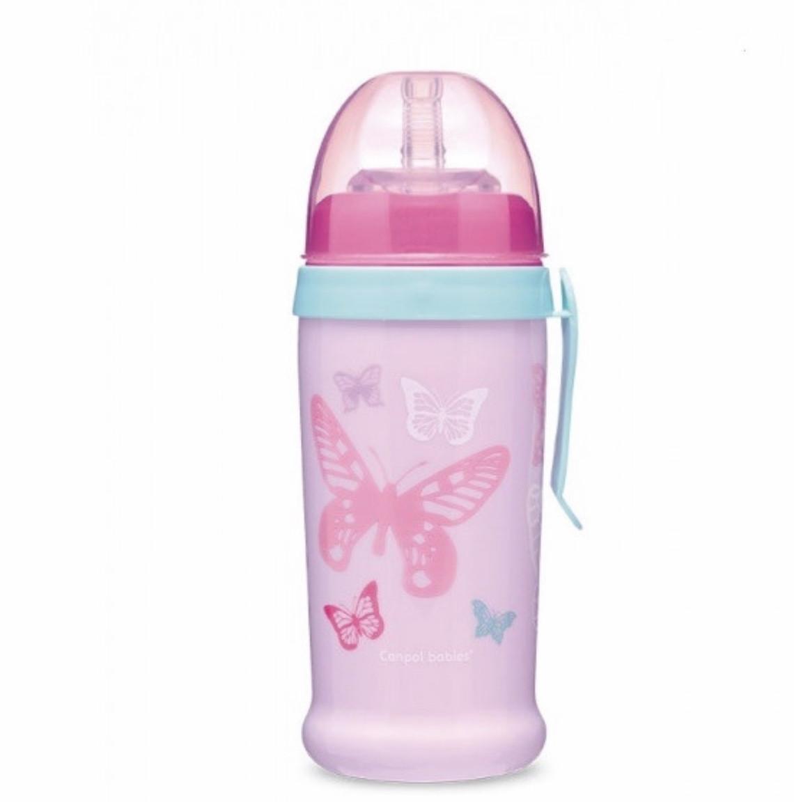Бидончик-непроливайка Butterfly 350 мл рожевий Canpol babies 56/515_pin