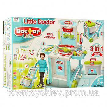 Детский игровой набор доктора 008-929 с тележкой  и инструментами