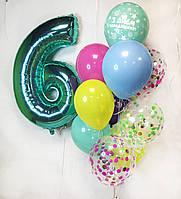 """Готовый набор шаров с гелием №9 """"Яркий праздник"""""""