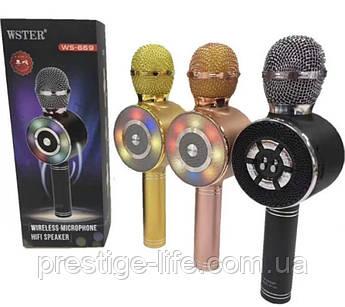 Беспроводной караоке микрофон с встроенным динамиком Bluetooth Wster WS-669