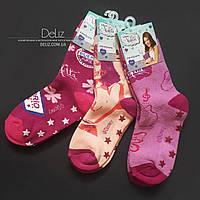 Дитячі махрові шкарпетки Disney Violetta 6028, шикарне якість. Розмір 36-37 колір РОЖЕВИЙ