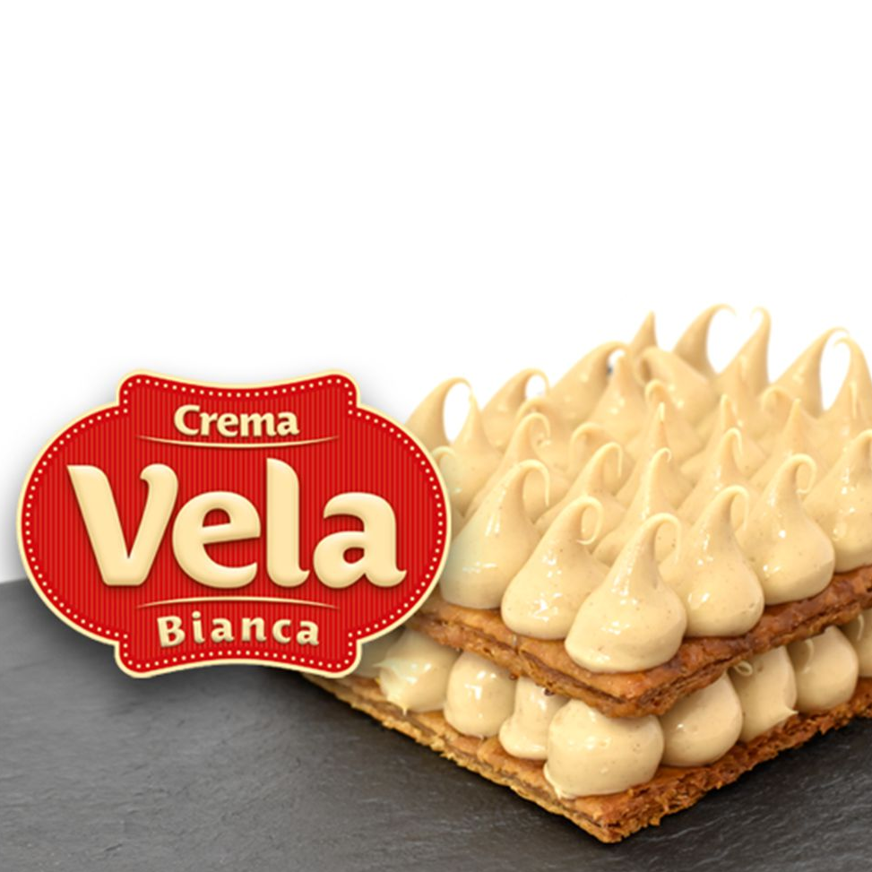 Крем кондитерський молочно - горіховий Вела Ночола Б'є янко / Vela Nocciola Bianca, 6 кг
