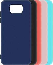 Матовый чехол Xiaomi Poco X3 (силиконовая накладка) (Сяоми Поко Х3)