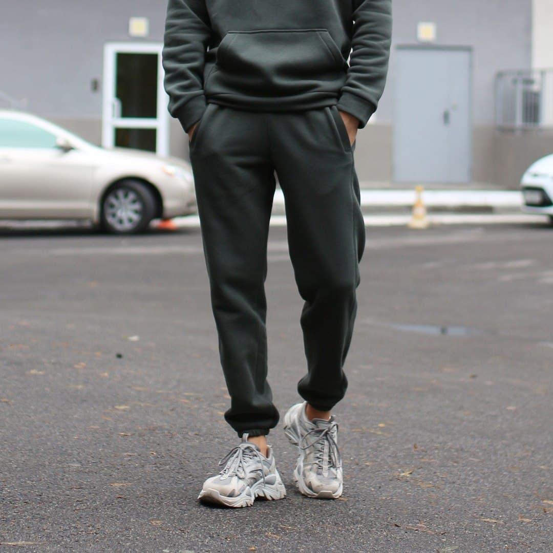Теплые спортивные штаны унисекс ТУР хаки