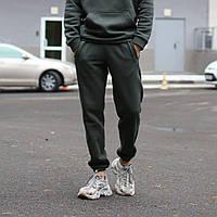 Теплые спортивные штаны унисекс ТУР хаки, фото 1