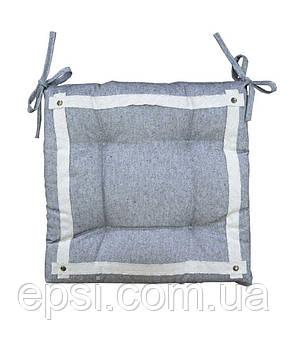 Подушка на стул Прованс  40х40 HYGGE  Black 100% хлопок