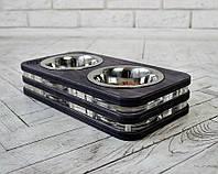 Миска-годівниця металева by smartwood для кішок котів кошенят XS - 2 миски (200 мл)