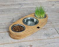 Миска-годівниця металева by smartwood для кішок котів кошенят XS - 3 миски (200 мл)