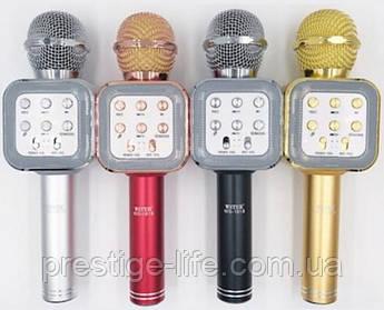 Беспроводной караоке микрофон с встроенным динамиком Bluetooth Wster WS-1818