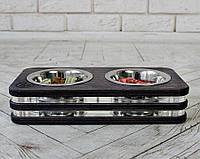 Миска-кормушка металлическая для собак и щенков - by smartwood XS - 2 миски, фото 1