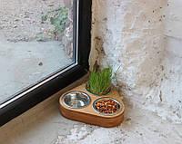 Миска-кормушка металлическая для собак и щенков - by smartwood XS - 3 миски, фото 1