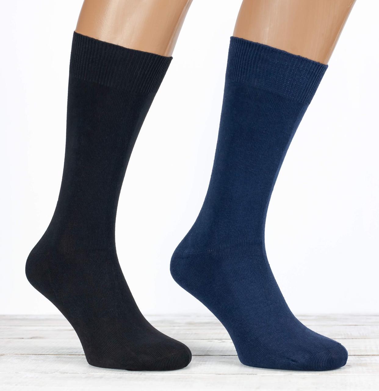 Чоловічі носки шкарпетки стрейчеві Z&N класичні високі  однотонні розмір 41-44 12 шт в уп чорний