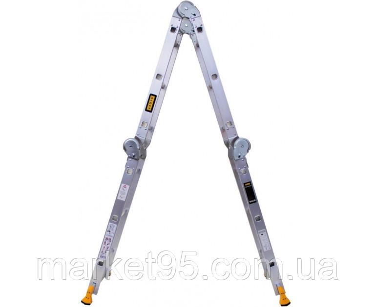 Шарнирная алюминиевая лестница Aloft 3х4