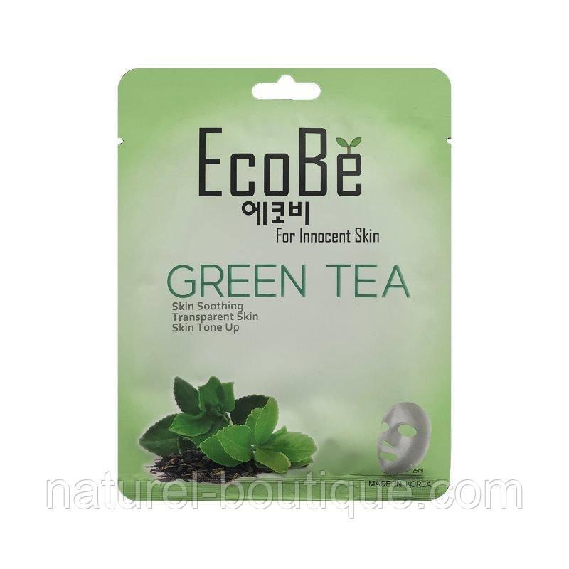 Тканевая маска для лица EcoBe Green Tea Mask