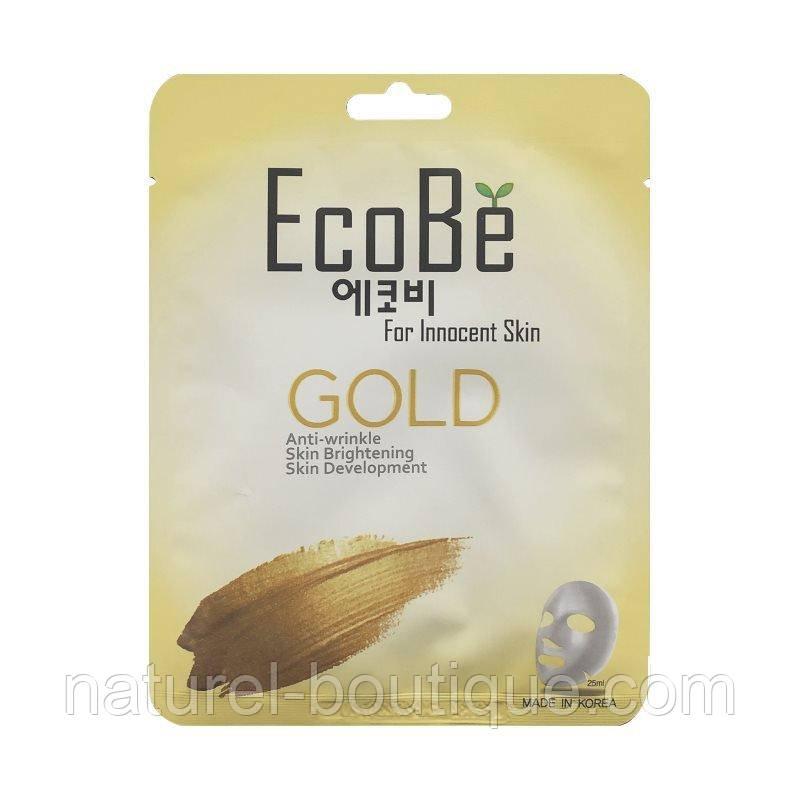 Тканевая маска для лица EcoBe Gold Mask