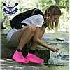 Чехлы бахилы для обуви силиконовые бахилы от дождя многоразовые бахилы от дождя РОЗОВЫЕ р-р М (37-41), фото 4