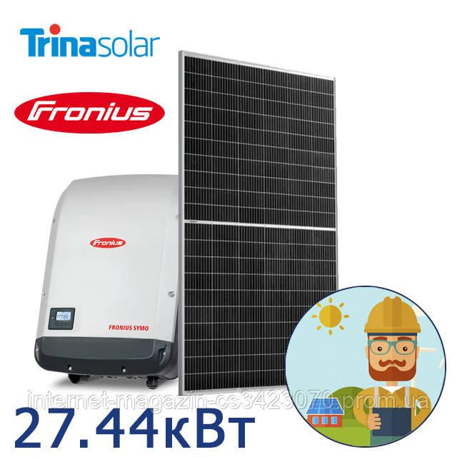 Сонячна мережева електростанція 27.44 кВт