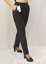 Брюки женские офисные в клетку  L - 6X Лосины с карманами - батал, фото 3