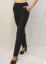 Брюки женские офисные в клетку  L - 6X Лосины с карманами - батал, фото 2
