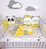 Бортики звірята в дитяче ліжечко (бортики зверюшки в кроватку)
