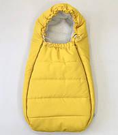 Теплый конверт в коляску, кокон-конверт, желтый зимний конверт