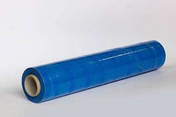 Стрейч пленка 500 мм 2.2 кг 23 мкм цветная синяя